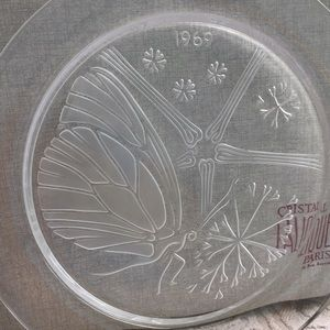 "💯LALIQUE VINTAGE ""MOMENT IN TIME "" CRISTAL PLATE"